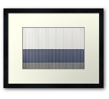 White Blue Grey Framed Print