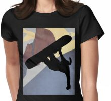Snowboarding Betty, evening light Womens Fitted T-Shirt