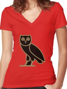 Owl Drake Women's Fitted V-Neck T-Shirt