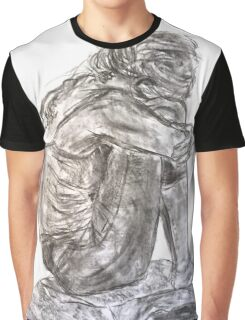 Seated Model with Tattoo  Graphic T-Shirt