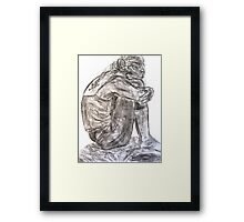 Seated Model with Tattoo  Framed Print