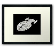 USS Star Trek Voyager Framed Print