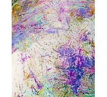 Funky abstract colorful ink design Photographic Print