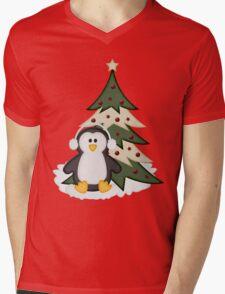 Christmas Penguin  Mens V-Neck T-Shirt