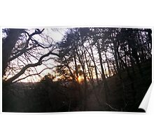 Sunset in Alva Glen Poster