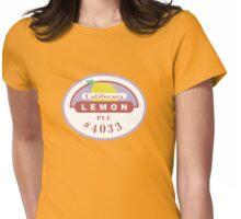 Lemon Sticker Womens Fitted T-Shirt