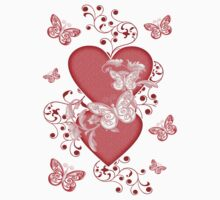 Butterfly Hearts .. Tee Shirt Kids Clothes