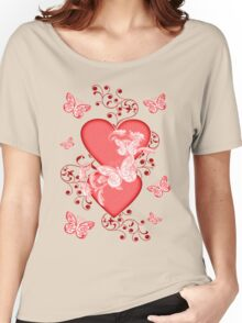 Butterfly Hearts .. Tee Shirt Women's Relaxed Fit T-Shirt