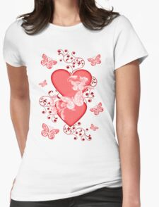 Butterfly Hearts .. Tee Shirt Womens Fitted T-Shirt