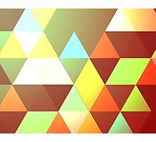 Autumnal Geometry Photographic Print
