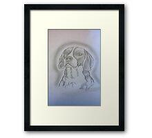Beagle Sketch Framed Print