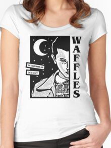 Stranger Things Eleven Waffles Women's Fitted Scoop T-Shirt