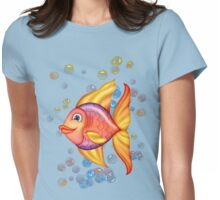 Happy Colorful Fish  Womens Fitted T-Shirt