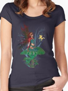 The Fairy and the Golden Pegasus  Women's Fitted Scoop T-Shirt