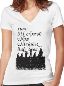 Not all those... Women's Fitted V-Neck T-Shirt