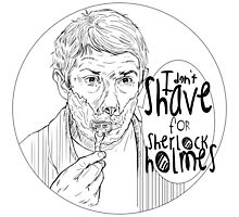 Shave for Sherlock (Lineart) by Indigo East