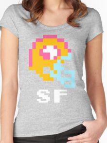 Tecmo Bowl San Francisco 49ers Football 8-Bit NES Nintendo Helmet Shirt T-shirt Women's Fitted Scoop T-Shirt
