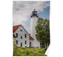 Point Iroquois Lighthouse - Michigan Poster