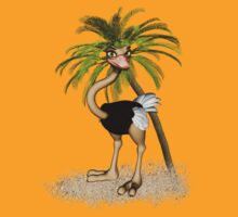 Quirky Ostrich .. tee shirt  by LoneAngel