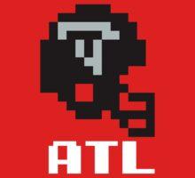 Tecmo Bowl Atlanta Falcons Football 8-Bit NES Nintendo Helmet Shirt T-shirt One Piece - Short Sleeve