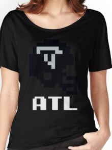 Tecmo Bowl Atlanta Falcons Football 8-Bit NES Nintendo Helmet Shirt T-shirt Women's Relaxed Fit T-Shirt
