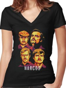 Narcos Escobar Women's Fitted V-Neck T-Shirt