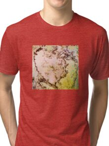 Eye catching mossy abstract ink pattern design  Tri-blend T-Shirt