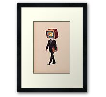 office worker Framed Print