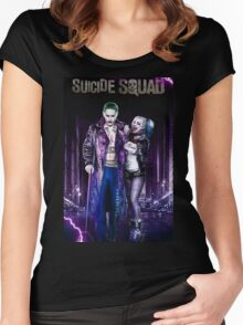 Harley Quinn & The Joker  Women's Fitted Scoop T-Shirt