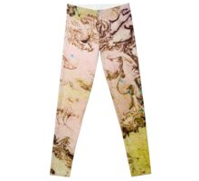 Eye catching mossy abstract ink pattern design  Leggings