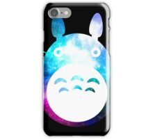 Galaxy Totoro - Black iPhone Case/Skin