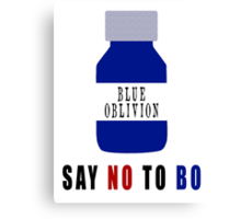 Say NO to BO Canvas Print