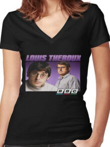 Louis Theroux 90s Alternate Women's Fitted V-Neck T-Shirt