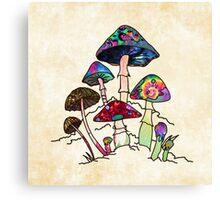 Garden of Shroomz Canvas Print