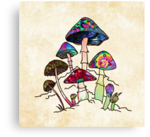 Garden of Shroomz Canvas Print