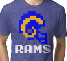 Tecmo Bowl Los Angeles Rams Football 8-Bit NES Nintendo Helmet Shirt T-shirt Tri-blend T-Shirt