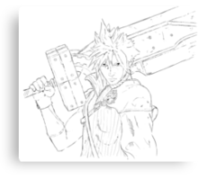 Final Fantasy 7 - Cloud Canvas Print