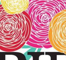 Floral frida khalo Sticker