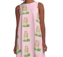 Pink Goes Good With Green  A-Line Dress