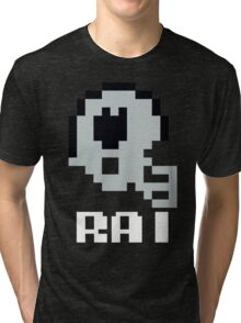 Tecmo Bowl Oakland Raiders Football 8-Bit NES Nintendo Helmet Shirt T-shirt Tri-blend T-Shirt