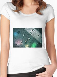 The droplets Women's Fitted Scoop T-Shirt