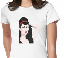 Pinup Pout Womens Fitted T-Shirt