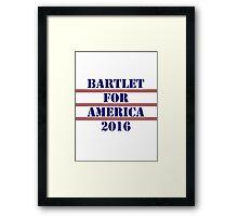 Bartlet for America 2016 Framed Print