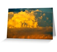 Sunset and Rain Clouds Greeting Card