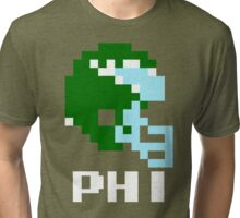 Tecmo Bowl Philadelphia Eagles Football 8-Bit NES Nintendo Helmet Shirt T-shirt Tri-blend T-Shirt