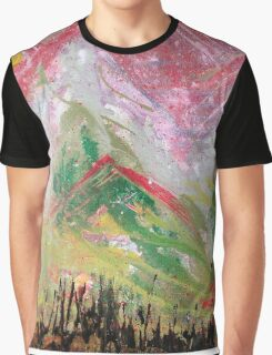 Green Top Mountains Graphic T-Shirt
