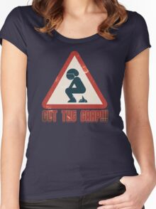 Cut The Crap - Funny Offensive T-Shirts and Gifts Women's Fitted Scoop T-Shirt
