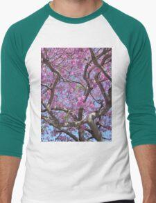 Pink Spring Blossoms Men's Baseball ¾ T-Shirt