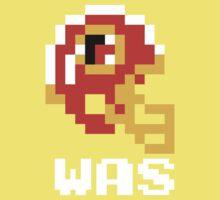 Tecmo Bowl Washington Redskins Football 8-Bit NES Nintendo Helmet Shirt T-shirt One Piece - Short Sleeve
