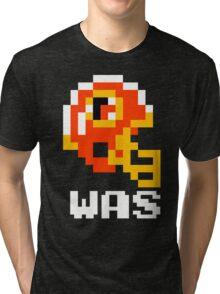 Tecmo Bowl Washington Redskins Football 8-Bit NES Nintendo Helmet Shirt T-shirt Tri-blend T-Shirt